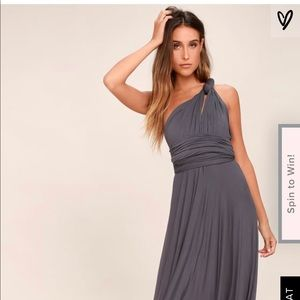 Lulus dark grey maxi dress